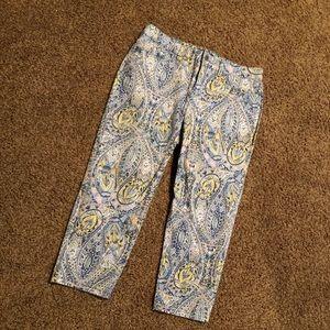 NEW-NEVER WORN Multi print pants
